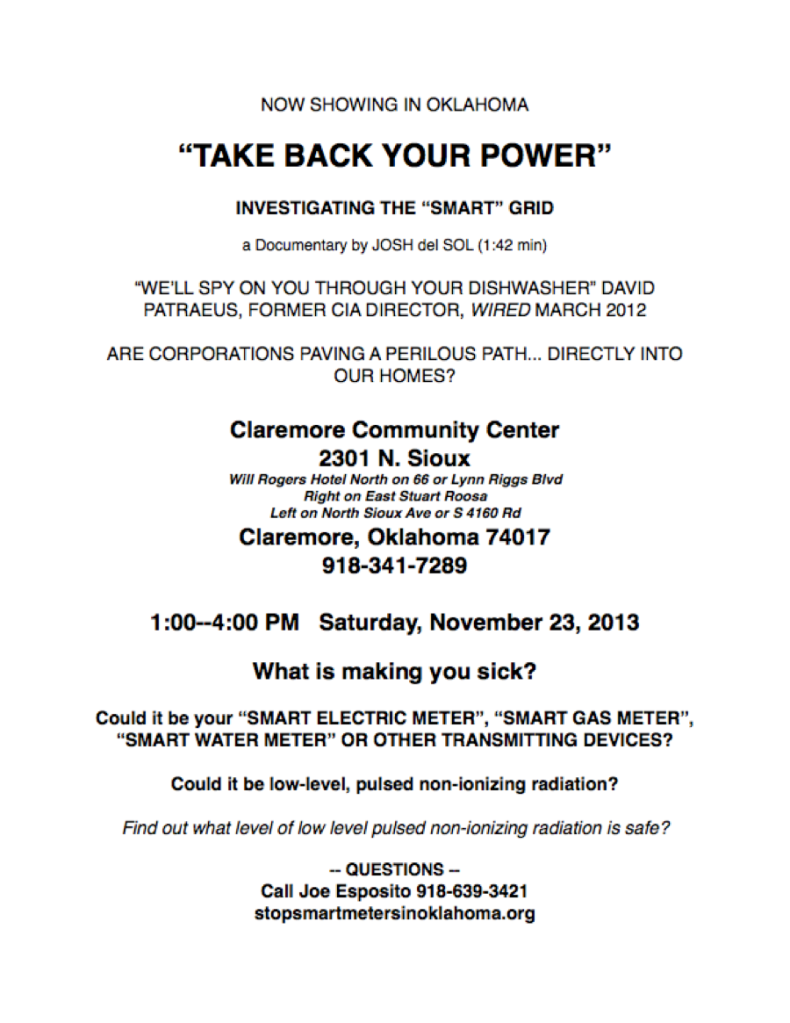 Take Back Your Power flyer