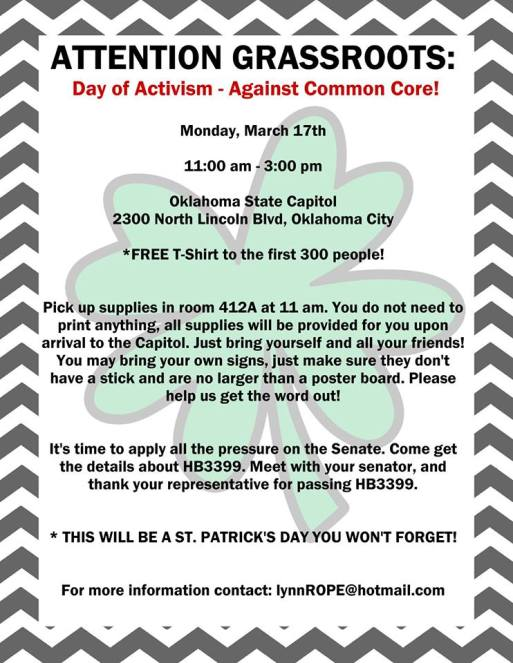 Common Core Day of Activism 3-17-14
